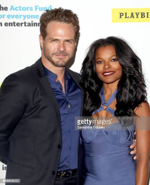 Singer Ben Sharp and actress Keesha Sharp attend Concert for America Stand Up Sing Out at Royce Hall on May 24 2017 in Los Angeles California Photo...