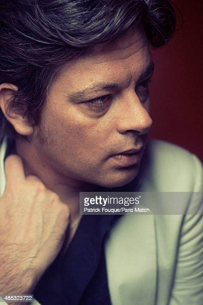 Singer Benjamin Biolay is photographed for Paris Match on October 5 2012 in Paris France