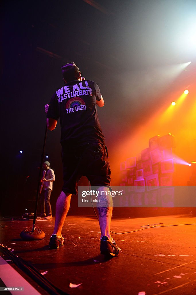 Singer Bert McCracken of The Used performs at Sands Bethlehem Event Center on April 19, 2014 in Bethlehem, Pennsylvania.