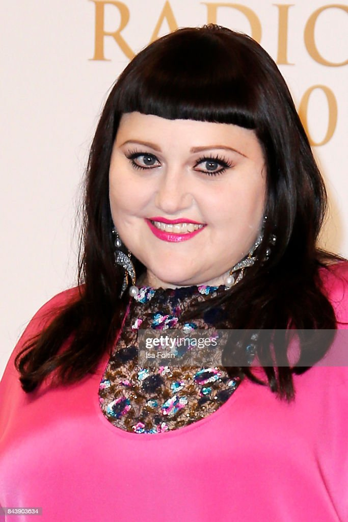 US singer Beth Ditto attends the 'Deutscher Radiopreis' (German Radio Award) at Elbphilharmonie on September 7, 2017 in Hamburg, Germany.