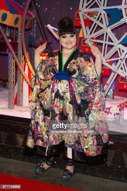 Singer Beth Ditto attends the Les Galeries Lafayette Christmas Decorations Inauguration at Galeries Lafayette Haussmann on November 8 2017 in Paris...