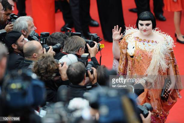 Singer Beth Ditto attends the 'Outside Of The Law' Premiere at the Palais des Festivals during the 63rd Annual Cannes Film Festival on May 21 2010 in...