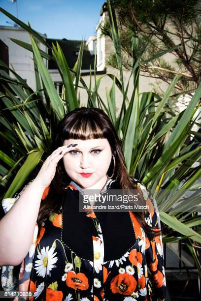 Singer Beth Ditto is photographed for Paris Match on May 31 2017 in Paris France