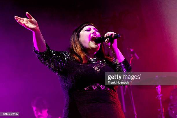 Singer Beth Ditto of Gossip performs live during a concert at the Velodrom on November 18 2012 in Berlin Germany