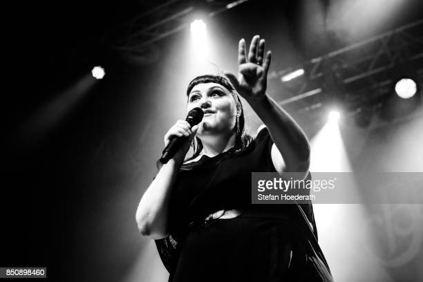 Singer Beth Ditto performs live on stage during a concert at Huxleys Neue Welt on September 21 2017 in Berlin Germany