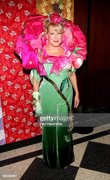 Singer Bette Midler attends 'Hulaween' a celebration of her 60th birthday and the 10th Anniversary of the New York Restoration Project at the Waldorf...