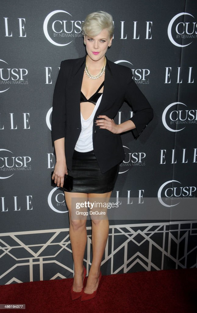 Singer Betty Who arrives at ELLE's 5th Annual Women In Music concert celebration at Avalon on April 22, 2014 in Hollywood, California.