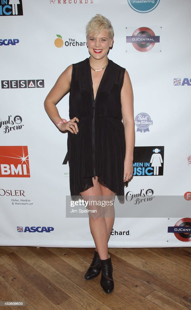 Singer <a gi-track='captionPersonalityLinkClicked' href=/galleries/search?phrase=Betty+Who&family=editorial&specificpeople=11519975 ng-click='$event.stopPropagation()'>Betty Who</a> attends the Women In Music presents their 2013 holiday party at Le Poisson Rouge on December 4, 2013 in New York City.