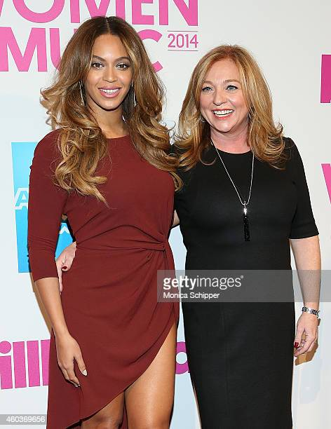 Singer Beyonce and Lee Anne CallahanLongo General Manager of Parkwood Entertainment and of Billboard's Top 50 Women In Music this year attend the...