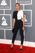 Singer Beyonce arrives at the 55th Annual GRAMMY Awards at Staples Center on February 10 2013 in Los Angeles California