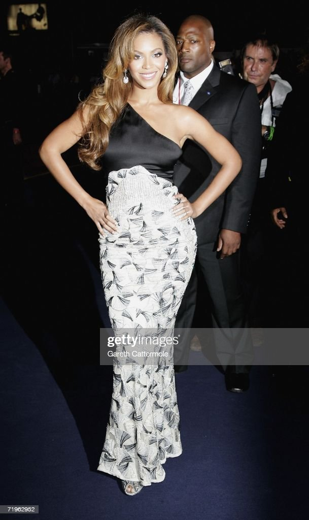 Singer Beyonce arrives at the Emporio Armani One Night Only Fashion show at Earls Court as part of London Fashion Week Spring/Summer 2007 on...