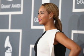 Singer Beyonce attends the 55th Annual GRAMMY Awards at STAPLES Center on February 10 2013 in Los Angeles California