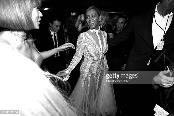Singer Beyonce attends The 58th GRAMMY Awards at Staples Center on February 15 2016 in Los Angeles California