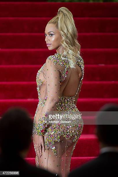 Singer Beyonce attends the 'China Through The Looking Glass' Costume Institute Benefit Gala at Metropolitan Museum of Art on May 4 2015 in New York...