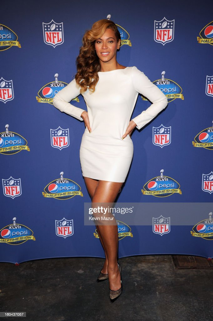 Singer Beyonce attends the Pepsi Super Bowl XLVII Halftime Show Press Conference at the Ernest N. Morial Convention Center on January 31, 2013 in New Orleans, Louisiana.