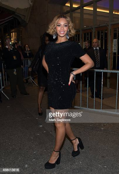 Singer Beyonce attends the Topshop Topman New York City Flagship Opening Dinner Grand Central Terminal on November 4 2014 in New York City