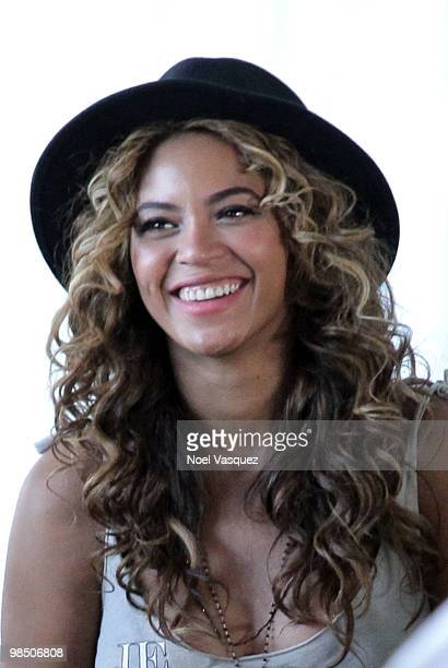 Singer Beyonce backstage during Day 1 of the Coachella Valley Music Art Festival 2010 held at the Empire Polo Club on April 16 2010 in Indio...