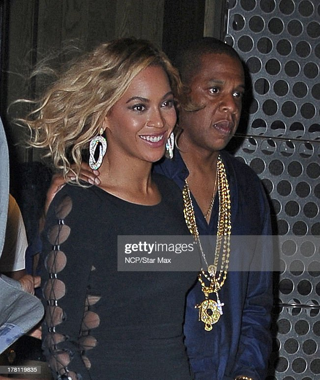 Singer Beyonce Knowles and Jay-Z are seen on August 25, 2013 in New York City.