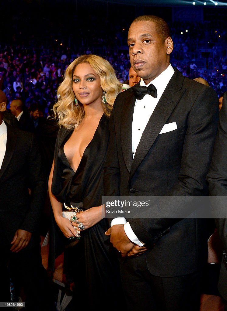Singer <a gi-track='captionPersonalityLinkClicked' href=/galleries/search?phrase=Beyonce+Knowles&family=editorial&specificpeople=171204 ng-click='$event.stopPropagation()'>Beyonce Knowles</a> and Rapper <a gi-track='captionPersonalityLinkClicked' href=/galleries/search?phrase=Jay-Z&family=editorial&specificpeople=201664 ng-click='$event.stopPropagation()'>Jay-Z</a> attend Roc Nation Sports, Golden Boy Promotions, Miguel Cotto Promotions And Canelo Promotions Present Miguel Cotto vs. Canelo Alvarez At The Mandalay Bay Events Center Live On HBO Pay-Per-View at the Mandalay Bay Events Center on November 21, 2015 in Las Vegas, Nevada.
