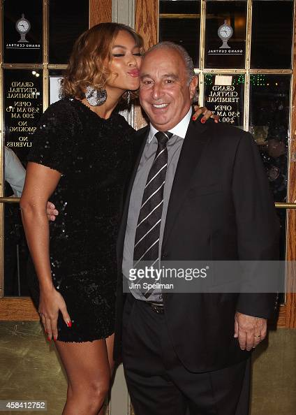Singer Beyonce Knowles and Sir Philip Green attend the Topshop Topman New York City Flagship Opening Dinner at Grand Central Terminal on November 4...