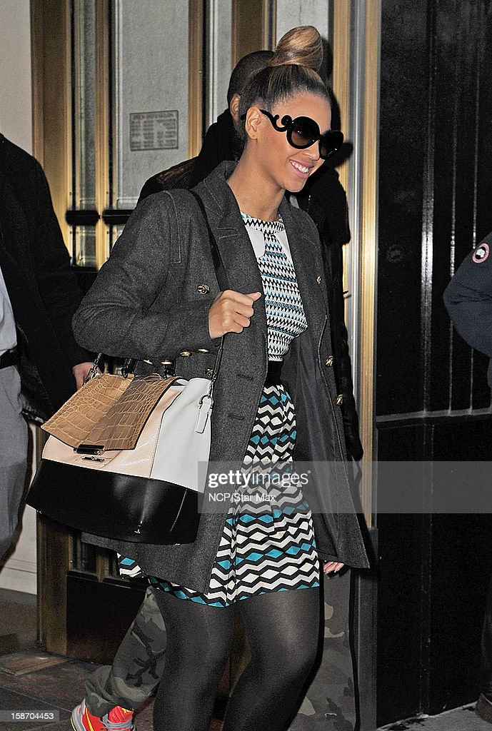 Singer Beyonce Knowles as seen on December 24, 2012 in New York City.