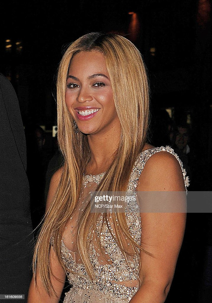 Singer Beyonce Knowles as seen on February 12, 2013 in New York City.