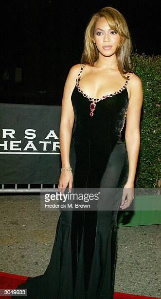 Singer Beyonce Knowles attends the 35th Annual NAACP Image Awards on March 6 2004 at the Universal Amphitheatre in Hollywood California