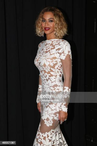 Singer Beyonce Knowles attends the 56th GRAMMY Awards at Staples Center on January 26 2014 in Los Angeles California