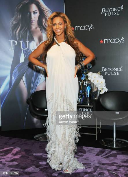 Singer Beyonce Knowles attends the Beyonce Pulse fragrance launch at Macy's Herald Square on September 22 2011 in New York City