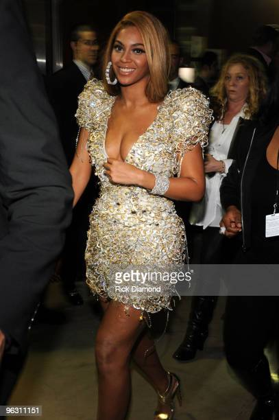 Singer Beyonce Knowles backstage at the 52nd Annual GRAMMY Awards held at Staples Center on January 31 2010 in Los Angeles California