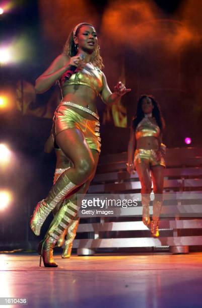 Singer Beyonce Knowles of Destiny''s Child performs August 24 2001 in Pittsburgh PA