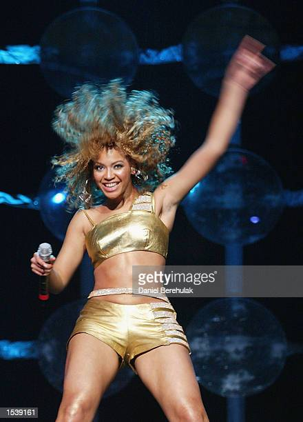 Singer Beyonce Knowles of the musical group Destiny's Child performs May 1 2002 in Sydney Australia