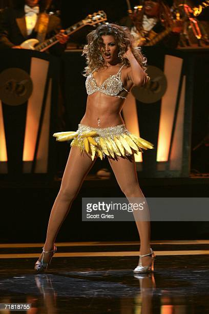 Singer Beyonce Knowles performs onstage at Conde Nast Media Group's Third Annual Fashion Rocks Concert at Radio City Music Hall September 7 2006 in...