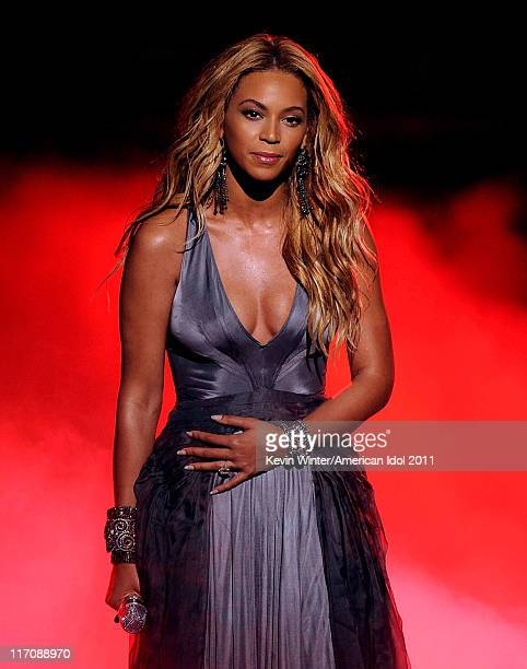 Singer Beyonce Knowles performs onstage during Fox's 'American Idol 2011' finale results show held at Nokia Theatre LA Live on May 25 2011 in Los...