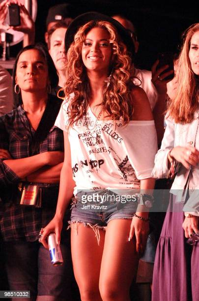 Singer Beyonce Knowles seen during day 1 of the Coachella Valley Music Arts Festival 2010 held at The Empire Polo Club on April 16 2010 in Indio...
