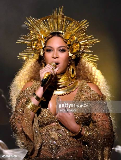 Singer Beyonce performs during The 59th GRAMMY Awards at STAPLES Center on February 12 2017 in Los Angeles California