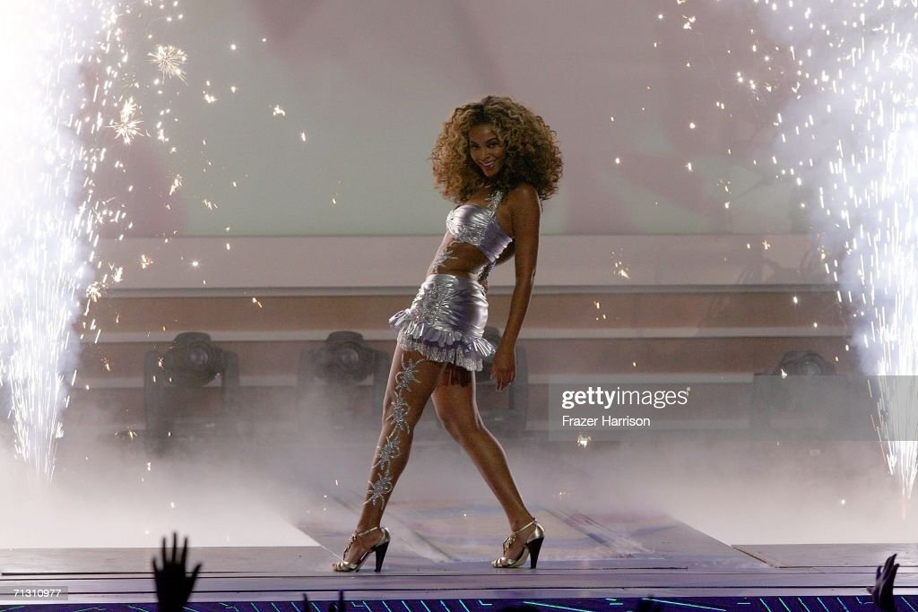 Singer Beyonce performs onstage at the 2006 BET Awards at the Shrine Auditorium on June 27 2006 in Los Angeles California