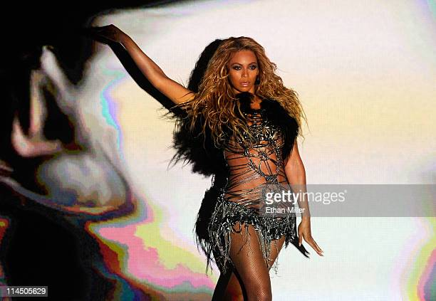 Singer Beyonce performs onstage during the 2011 Billboard Music Awards at the MGM Grand Garden Arena May 22 2011 in Las Vegas Nevada