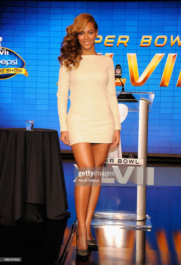 Singer Beyonce speaks onstage at the Pepsi Super Bowl XLVII Halftime Show Press Conference at the Ernest N. Morial Convention Center on January 31, 2013 in New Orleans, Louisiana.