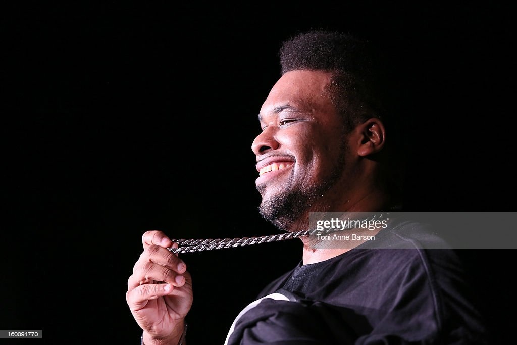 Singer Big Ali performs during 'Before NRJ Music Awards 2013 Concert' at Palais des Festivals on January 25, 2013 in Cannes, France.