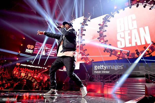 Singer Big Sean performs at the 2015 iHeartRadio Music Festival at the MGM Grand Garden Arena on September 19 2015 in Las Vegas Nevada