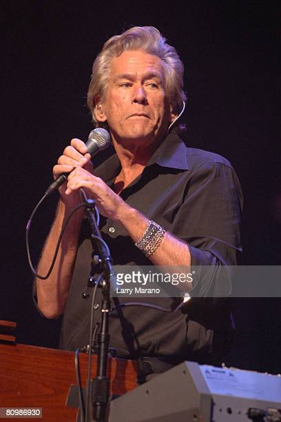 Singer Bill Champlin of Chicago performs at Hard Rock live held at the Seminole Hard Rock and casino on May 4 2008 in Hollywood Florida