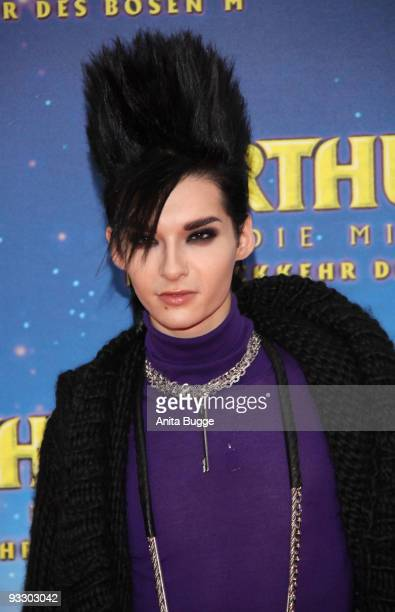 Singer Bill Kaulitz of 'Tokio Hotel' attends the premiere of 'Arthur und die Minimoys' on November 22 2009 in Berlin Germany