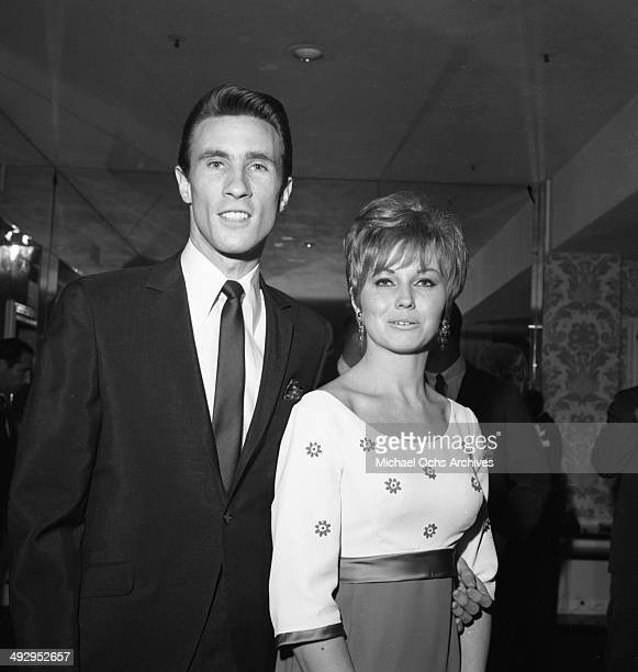 Singer Bill Medley of the rock and roll group 'The Righteous Brothers' attends an event with his wife Karen Klaas in circa 1969 in Los Angeles...