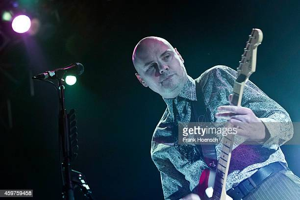 Singer Billy Corgan of the American band The Smashing Pumpkins performs live during a concert at the Kesselhaus on November 30 2014 in Berlin Germany