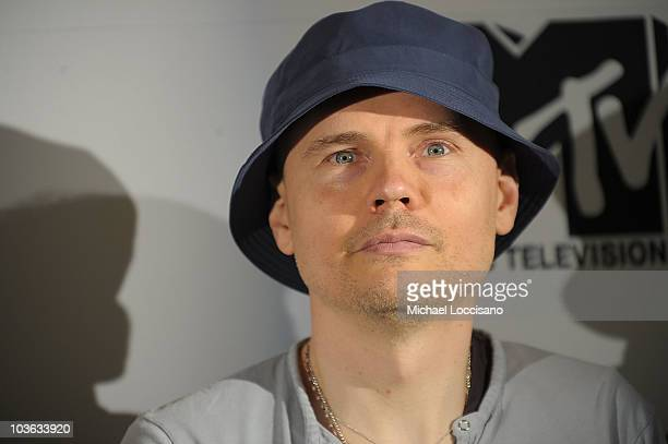 Singer Billy Corgan of The Smashing Pumpkins takes part in the 2010 MTV World Stages press conference at the W Mexico City on August 25 2010 in...