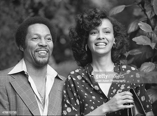 Singer Billy Davis Jr with wife singer and actress Marilyn McCoo at an ERA event hosted by and at the home of actress producer and social activist...