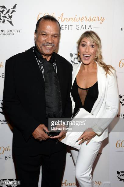 Singer Billy Dee Williams and dancer Emma Slater attend the Humane Society of The United States 60th Anniversary Gala at The Beverly Hilton Hotel on...