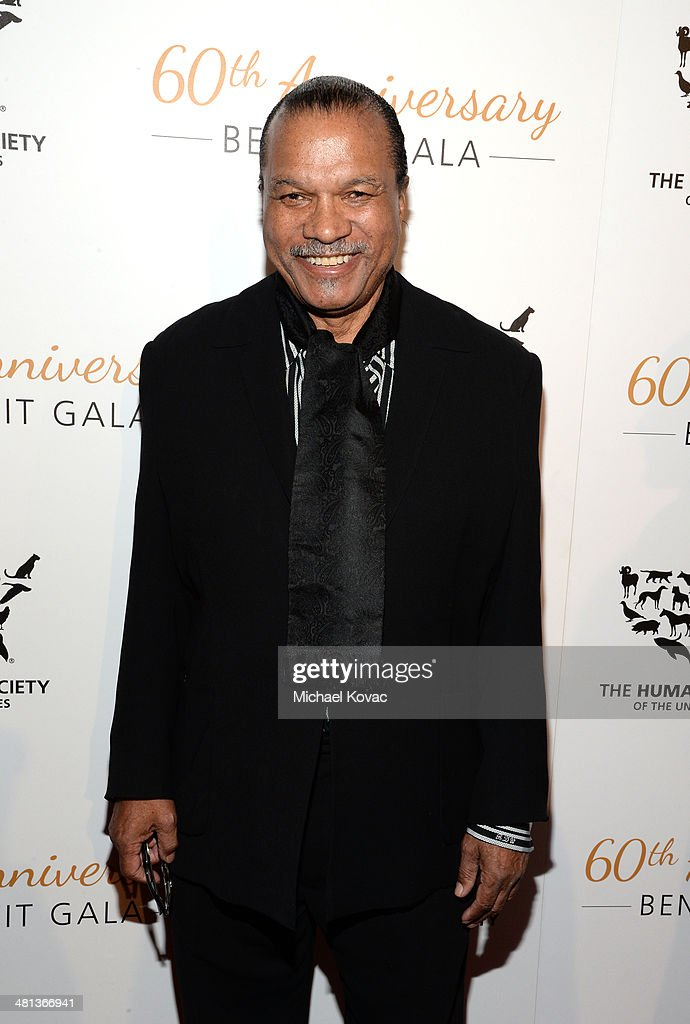 Singer Billy Dee Williams attends the Humane Society of The United States 60th Anniversary Gala at The Beverly Hilton Hotel on March 29 2014 in...