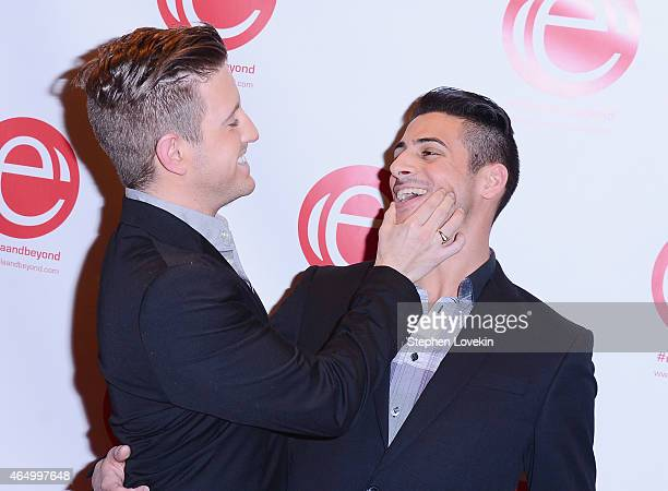 Singer Billy Gilman and Chris Meyer attend the 'Stop Ebola And Build For The Future' concert at United Nations Headquarters on March 2 2015 in New...